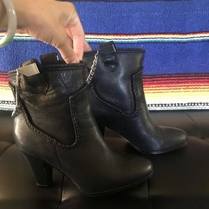Karl Lagerfeld Provence Bootie in Black Leather